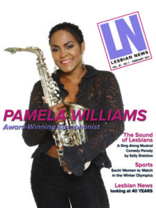 Lesbian News February 2014 Issue| Pamela Williams