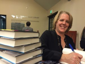 Roberta Kaplan signing books
