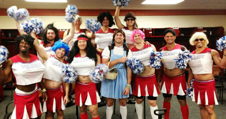 cross-dressing sports hazing