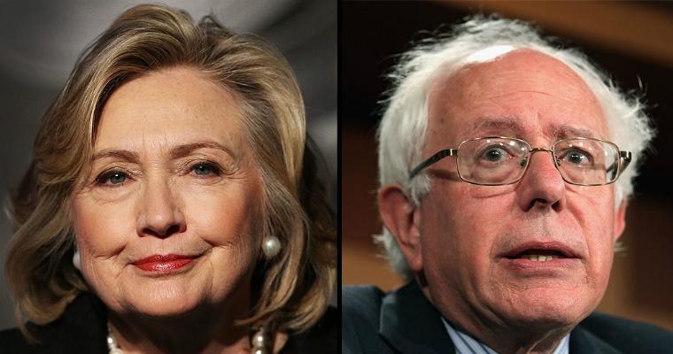 Clinton Sanders Democratic candidates