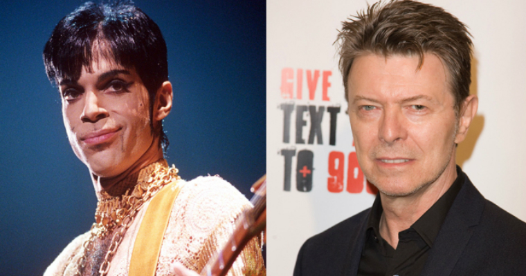 Prince and David Bowie LGBT music icons