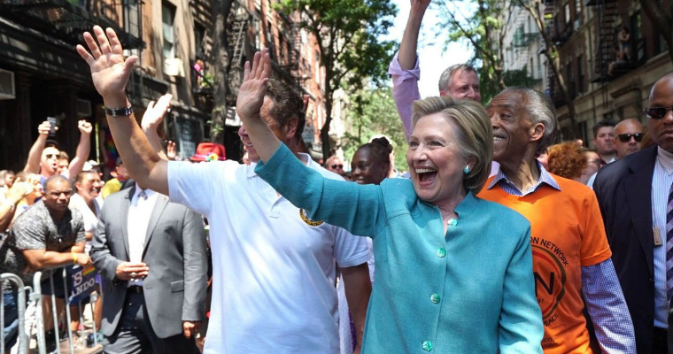Hillary Clinton at NYC Pride