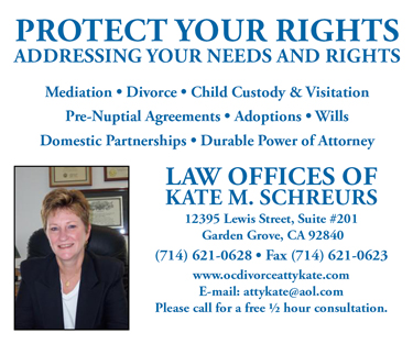 Kate Schreurs Law Office Advertisement