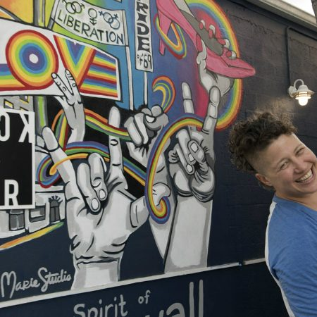 Lisa Marie Thalhammer launches 'Spirit of Stonewall' mural