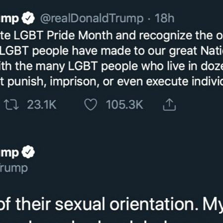 When Trump tweets support for LGBTQ people on Pride month