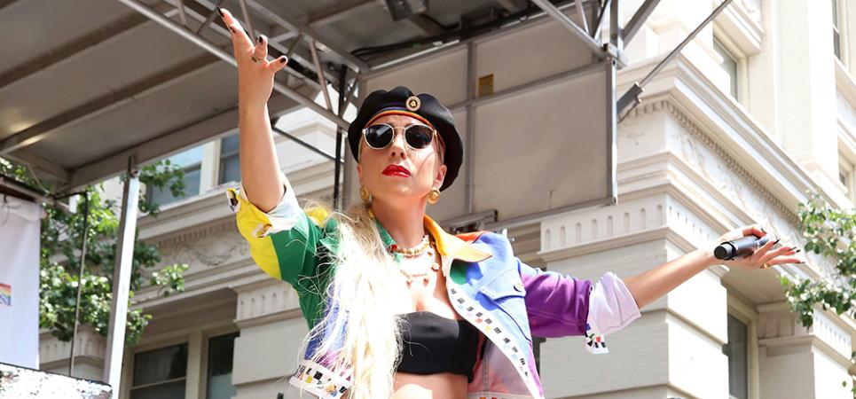 Lady Gaga at the 50th Stonewall anniversary