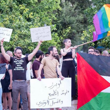Palestine LGBTQ community protests stabbing of transgender Arab teen